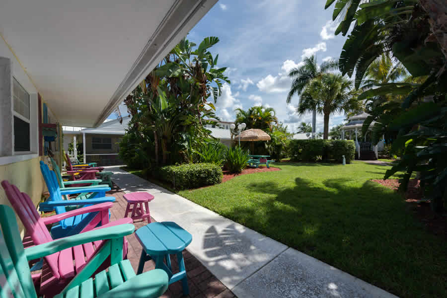 View of the garden with gazebo at Lemon Tree Inn