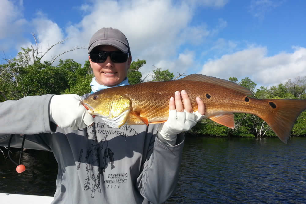 Alicia fished in the Everglades - a short drive from Naples FL