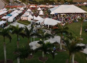 Marco Island Seafood & Music Festival aerial shot