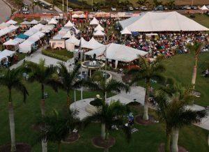 Marco Island Seafood & Music Festival aerial shot