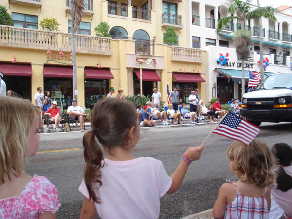 July 4th Parade on 5th Avenue in Naples, FL